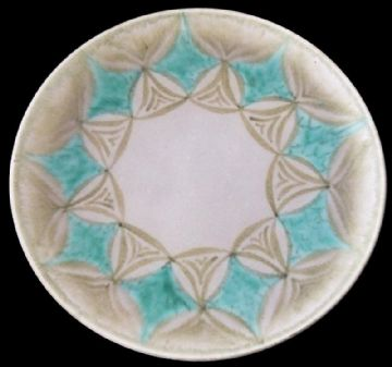 Pilkingtons Royal Lancastrian Lapis Ware Plate By Gladys Rodgers
